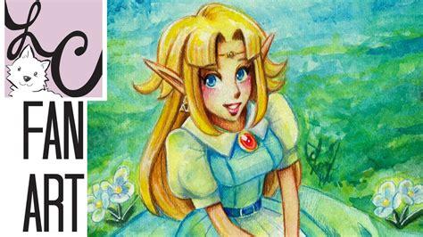 A Link To The Past Princess Zelda Fan Art Koi Watercolor