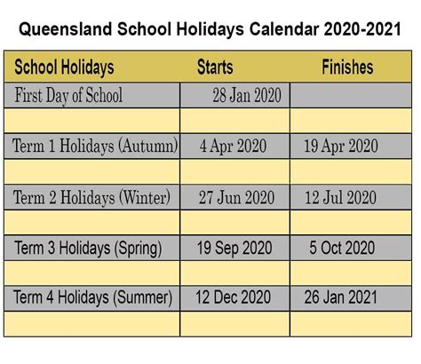 qld school calendar calendar printables  blank