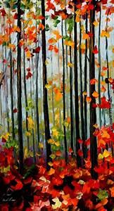Leonid, Afremov, Misty, Mood, Painting