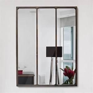 Miroir Effet Verrire Style Industriel 90x120 Lon By Drawer