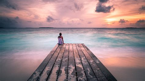 Peaceful Sunset Maldives Travel photography Check