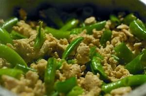 Ground Turkey With Snow Peas Recipe