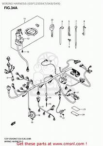 Suzuki Gsf1250s Bandit 2007  K7  Usa  E03  Wiring Harness  Gsf1250sk7  Sk8  Sk9