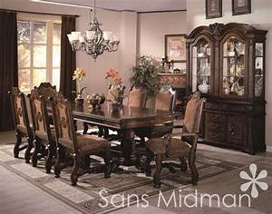Formal 12 Piece Renae Dining Room Set Table 10 Chairs