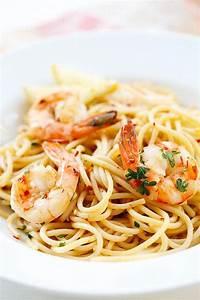 Spaghetti Aglio e Olio with Shrimp Easy Delicious Recipes