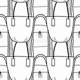 Handbag Seamless Coloring Stylish Pattern Messenger Elegant sketch template