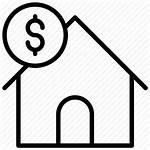 Cost Icon Financing Property Mortgage Value Getdrawings