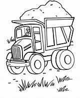 Coloring Truck Dump Printable sketch template