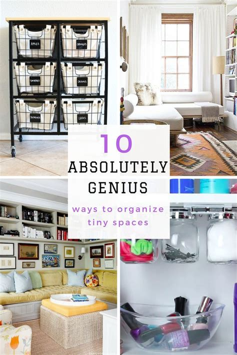 Diy Apartment Organizing Ideas by How To Organize Small Spaces Small Space Organization