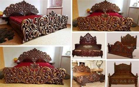 unique handmade wooden bed frame decor   love