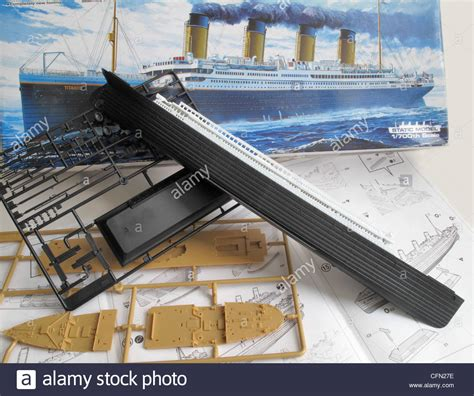Titanic Boat Parts by A Kit Model And The Unassembled Parts Of The Titanic Ship