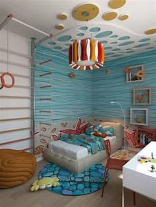 Klettern Im Kinderzimmer : wandfarbe kinderzimmer malerei unterwasserwelt blau kids ~ Michelbontemps.com Haus und Dekorationen
