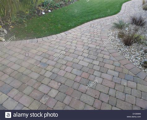 porous brick pavers rustic red brick patio block paving in uk garden with porous joints stock photo royalty free