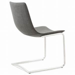 Chaise Moderne Design : chaise design et moderne rimini en textile gris ~ Teatrodelosmanantiales.com Idées de Décoration