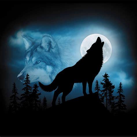 wolf silhouette harlequin nature graphics   love