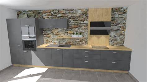 cuisine gris et bois davaus cuisine gris laque et bois avec des idées