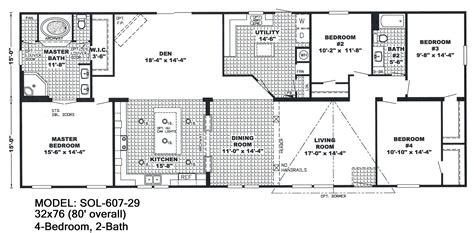 floor plans for manufactured homes 4 bedroom wide mobile home floor plans unique mobile homes wide floor plans 4