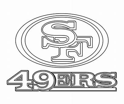 49ers Coloring Francisco San Nfl Svg Clipart