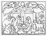 Nativity Coloring Christmas Pages Printable Manger Jesus Serendipity Hollow Conjunction Fhe Want sketch template