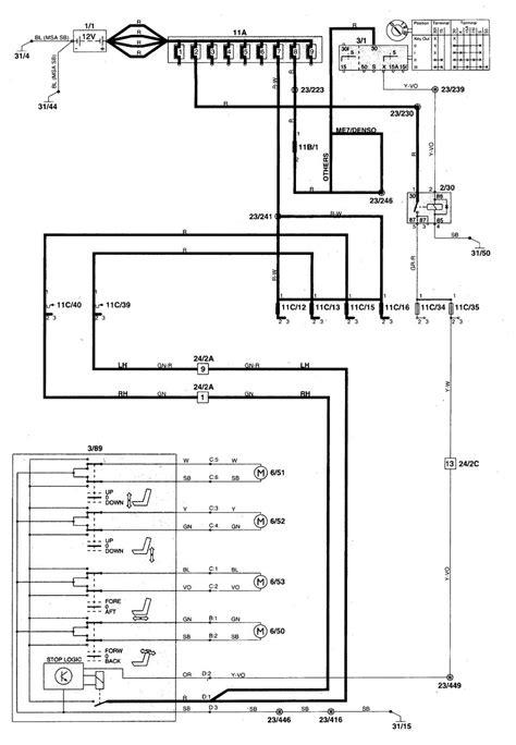 volvo c70 1998 2004 wiring diagrams power seats