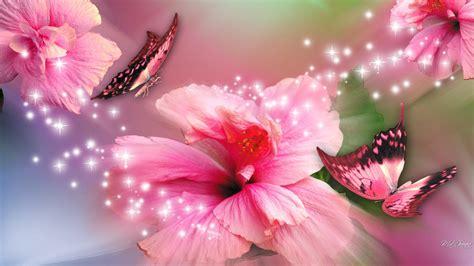 Feathers flowers hd desktop wallpaper. 39+ Pink Butterfly Wallpaper Flower on WallpaperSafari