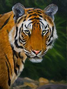 tiger oil painting | How to Draw and Paint Animals ...