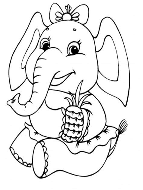 Coloring Gajah by Elephants Coloring Pages Realistic Realistic Coloring Pages