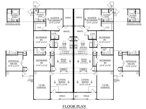 apartment blueprints floor duplex triplex house plans house plans