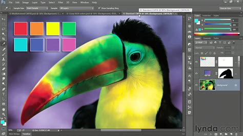 photoshop tutorial converting  rgb  cmyk  multichannel lyndacom youtube