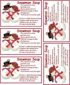 Snowman Soup Tag