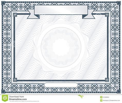 certificate stock vector illustration  picture antique