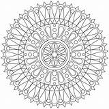 Coloring Pages Geometric Printable Shape Mandala Patterns Adult Cool Colouring Sheets Fun Adults Mandalas Print Colour Sheet Easy Printables Books sketch template