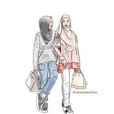 hijab illustration hijab fashion hijab drawing