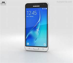 Samsung Galaxy J3  2016  White 3d Model