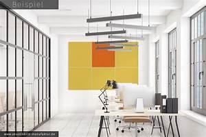Wandbilder Fürs Büro : beispiele f r einfarbige akustikbilder ohne rahmen die akustikbild manufaktur ~ Bigdaddyawards.com Haus und Dekorationen