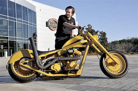 Caterpillar Custom Chopper Donated To World's Largest