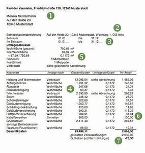 Miete Berechnen Vermieter : wie gehe ich als vermieter eine betriebskostenabrechnung an ~ Themetempest.com Abrechnung