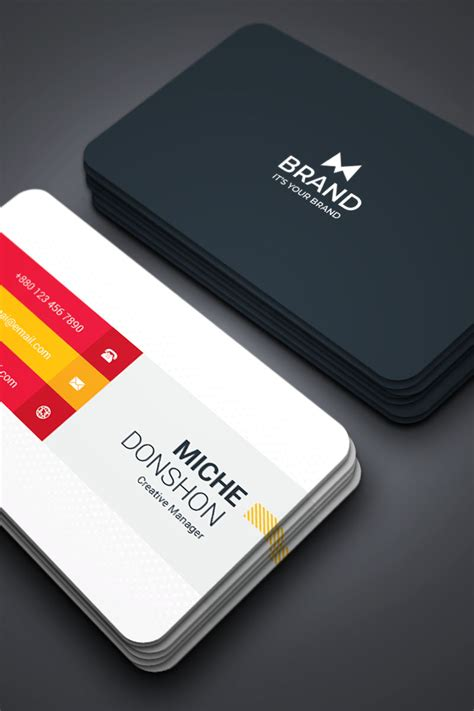 brand mix copporate business card corporate identity