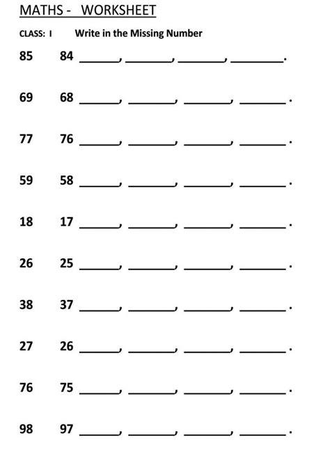 15 best images of find the missing number worksheet find