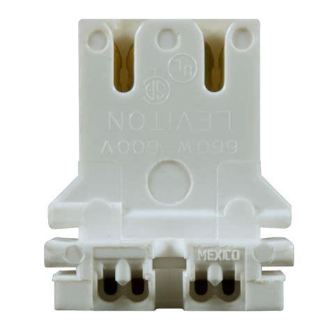 shunted instant start l holder leviton 13180 u t8 or t12 bi pin socket u bend