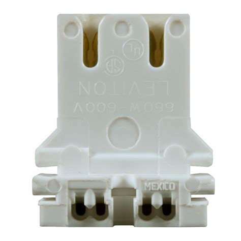shunted bi pin l holders leviton 13180 u t8 or t12 bi pin socket u bend