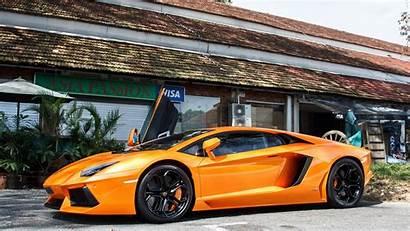 Cars Lamborghini 4k Wallpapers Ultra Side Orange