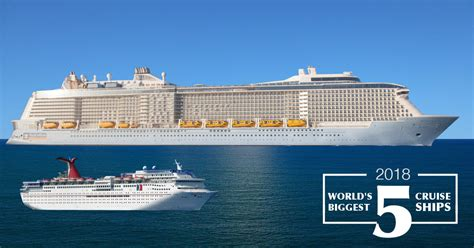 Largest Boat by World S 5 Largest Cruise Ships In 2018 The Muster Station