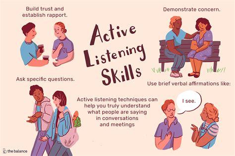 important active listening skills  techniques