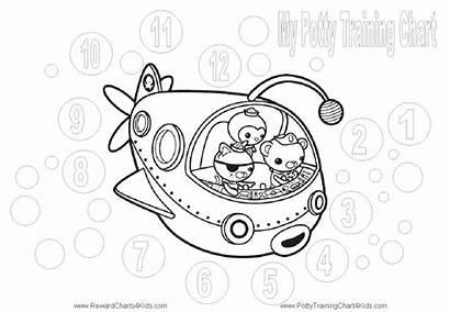 Octonauts Coloring Potty Charts Reward Training Printable