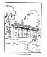 Plantation Coloring Pages Early American Southern Printables Homes Culture Usa Template America Plantations Sketch sketch template