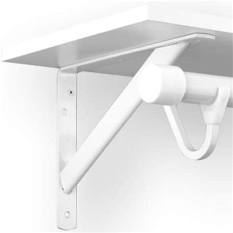 white heavy duty shelf and rod bracket at menards 174