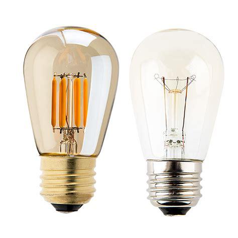 led vintage light bulb s14 led sign bulb w gold tint