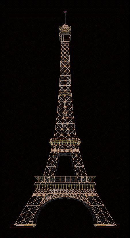 eiffel tower dwg model  autocad designs cad