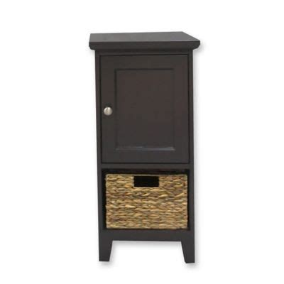 Bathroom Cabinets Bed Bath And Beyond by 1 Basket Bathroom Floor Cabinet In Espresso Bed Bath And
